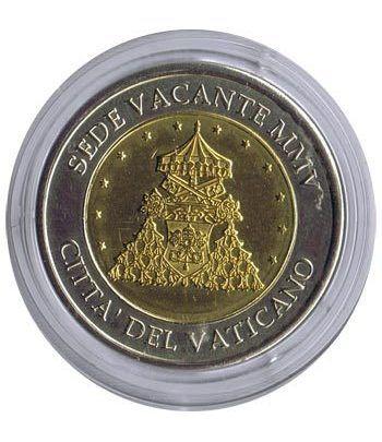 Euro prueba Vaticano 2 euros 2005 Sede Vacante.  - 1