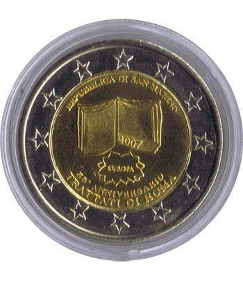 Euro prueba San Marino 2 euros 2007 Tratado de Roma.  - 1