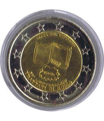 Euro prueba Vaticano 2 euros 2007 Tratado de Roma.  - 1