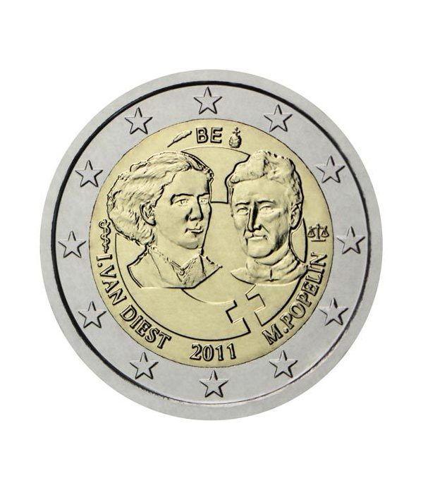 moneda conmemorativa 2 euros Belgica 2011. Proof.  - 2