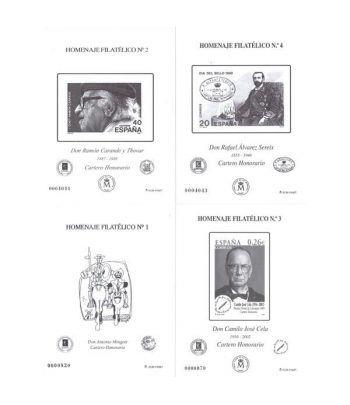 Colección Homenaje Filatelico nº1 al 8.  - 1