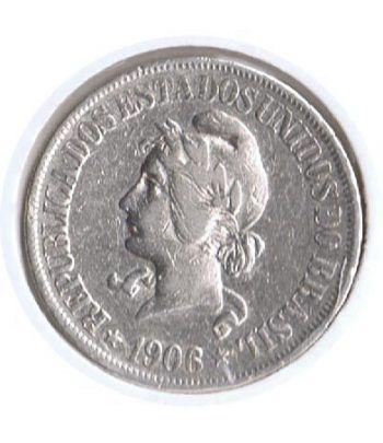 Moneda de plata 500 Reis Brasil 1906.  - 4
