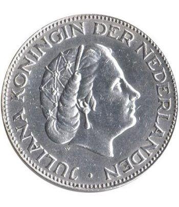 Moneda de plata 2,5 Gulden Holanda 1959  - 1