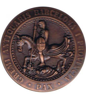 Medalla I Exposición de Anticuarios en Barcelona 1975. Bronce.  - 1