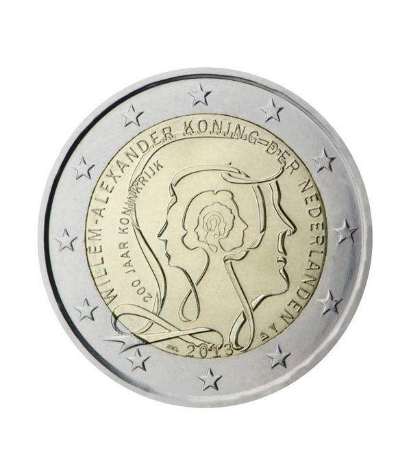 moneda conmemorativa 2 euros Holanda 2013 200 Aniv reino.  - 2