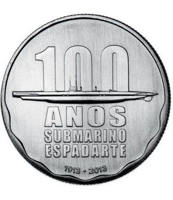 Portugal 2.5 Euros 2013 100 Años Submarino Espadarte.  - 1