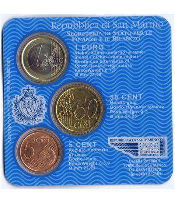 Cartera oficial euroset San Marino 2006 (3 monedas)  - 2