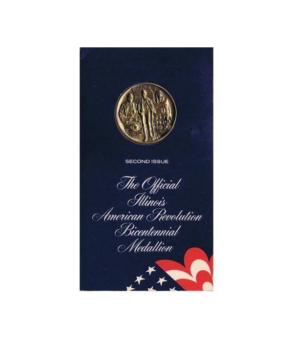 Medalla Bicentenario Revolución americana Illinois 1974 Bronce.  - 1