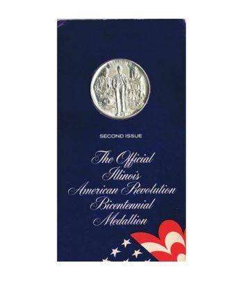 Medalla Bicentenario Revolución americana Illinois 1974 Niquel.  - 1