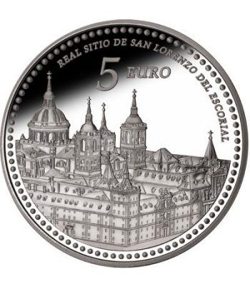 Moneda 2013 Patrimonio Nacional. Monasterio El Escorial. 5 euros  - 1