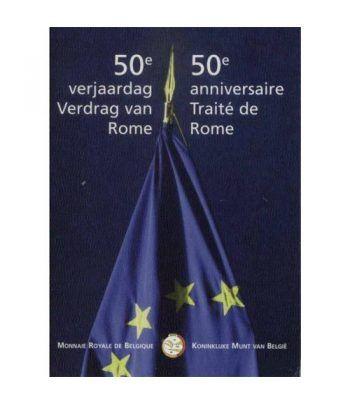 moneda Bélgica 2 euros 2007 Tratado de Roma. Estuche.  - 1