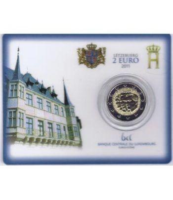 moneda conmemorativa 2 euros Luxemburgo 2011. Estuche  - 1