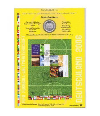 moneda Alemania 10 Euros 2006 Fifa. Numisblatt.  - 1
