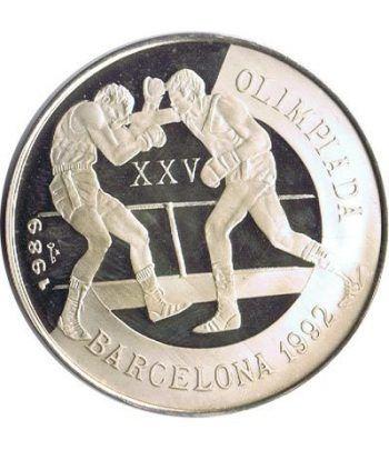 Moneda de plata 5 pesos Cuba 1989. Barcelona 1992 Boxeo.  - 1