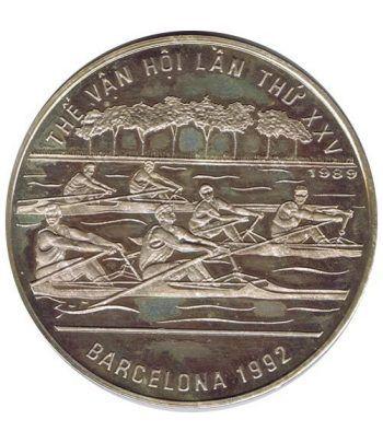 Moneda de plata 100 Dong Vietnam 1989. Barcelona 1992.  - 4