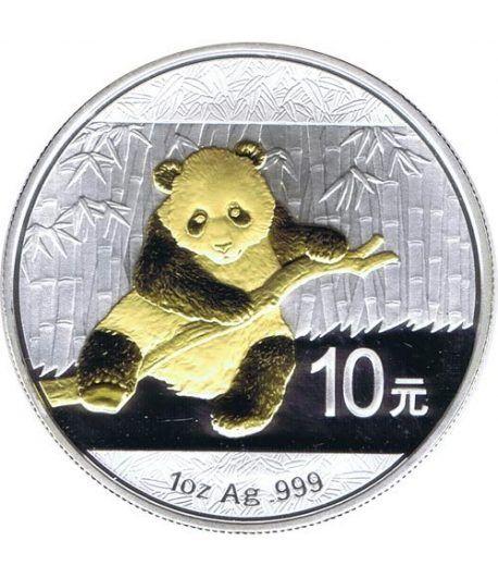Moneda onza de plata y oro 10y. China Oso Panda 2014  - 1