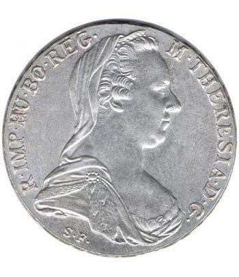 Moneda de plata de Austria 1 Thaler año 1780 Reacuñación oficial.  - 1