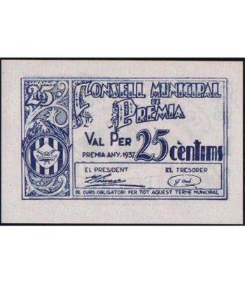 (1937) 25 centims Consell Municipal de Premia. SC  - 4