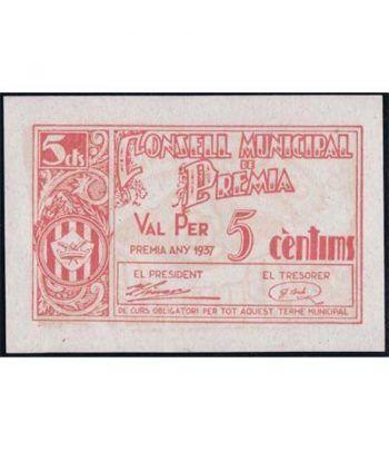(1937) 5 centims. Consell Municipal de Premia. SC  - 1