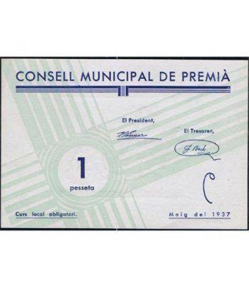 (1937) 1 Pesseta Consell Municipal de Premia. SC  - 1