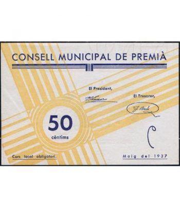 (1937) 50 centims Consell Municipal de Premia. SC  - 1