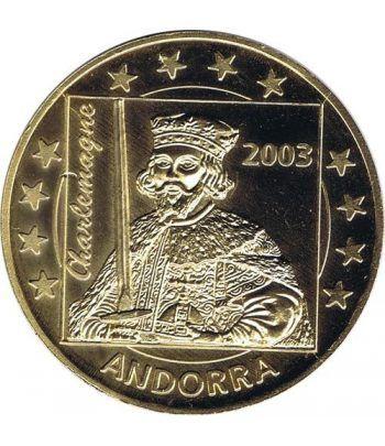 Euro prueba Andorra 5 euros 2003 Carlomagno.  - 1