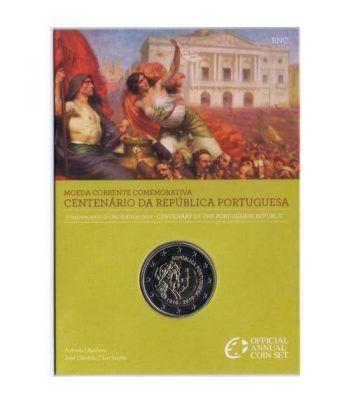 moneda conmemorativa 2 euros Portugal 2010. Estuche BU.  - 2