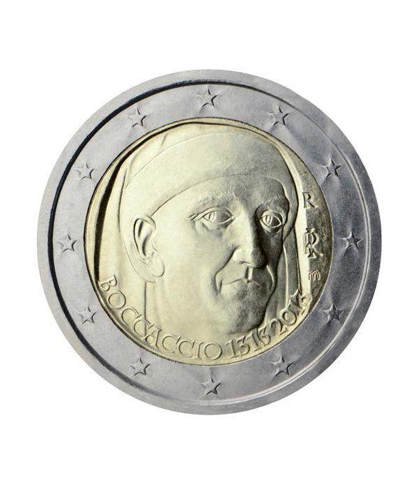 moneda conmemorativa 2 euros Italia 2013. Boccaccio.  - 2