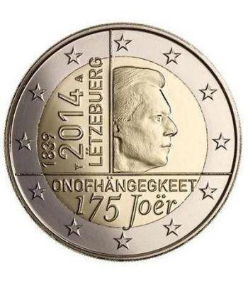 moneda conmemorativa 2 euros Luxemburgo 2014. Independencia.  - 2