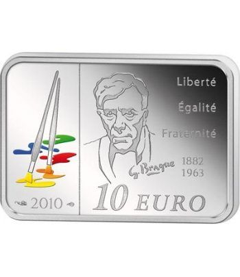 Francia 10 € 2010 Georges Braque. Plata Proof.  - 1