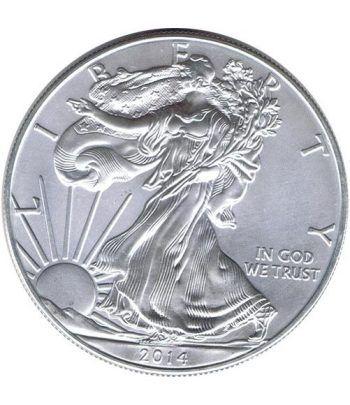 Moneda onza de plata 1$ Estados Unidos Liberty 2014  - 1
