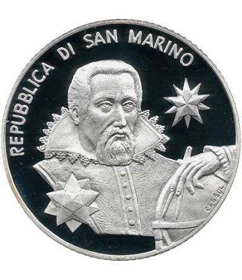 San Marino 5 Euros 2009. Johan Kepler. Astronomía. Plata  - 2