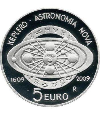 San Marino 5 Euros 2009. Johan Kepler. Astronomía. Plata  - 4