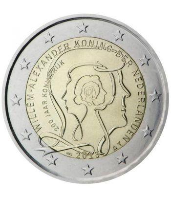 moneda conmemorativa 2 euros Holanda 2013 200 A. reino. Proof  - 2