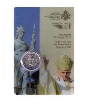 monedas euro serie San Marino 2011 (2 euro coincard)  - 1