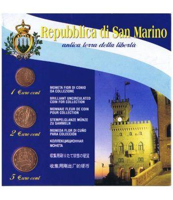 monedas euro serie San Marino 2006 (1-2-5 centimos blister)  - 1