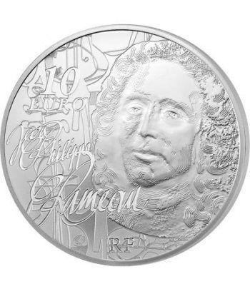 Francia 10 € 2014 Jean Philippe Rameau. La música. Plata.  - 1