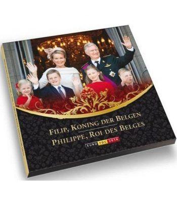Cartera oficial euroset Belgica 2014. Nuevas monedas euro.  - 1