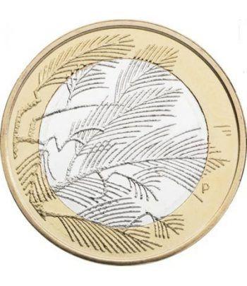 moneda Finlandia 5 Euros 2014. Naturaleza. Desierto  - 1