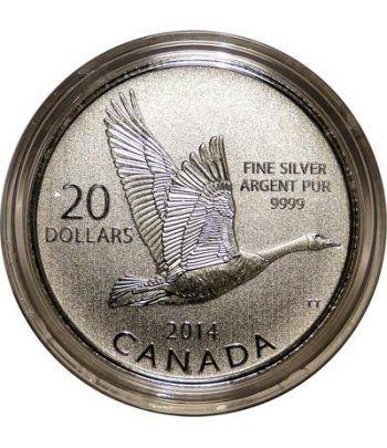 Moneda de plata 20$ Canada Ganso de Canada 2014  - 1