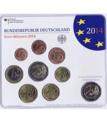 Cartera oficial euroset Alemania 2014 (5 cecas).  - 1