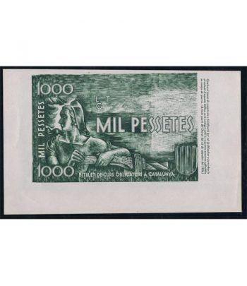 (1937) 1000 Pessetes Generalitat de Catalunya. Prueba.  - 2