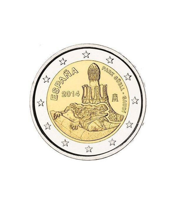 moneda conmemorativa 2 euros España 2014 Park Güell-Gaudí.  - 2