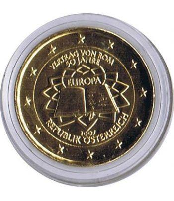 moneda Austria 2 euros 2007 Tratado de Roma. Chapada oro.  - 2