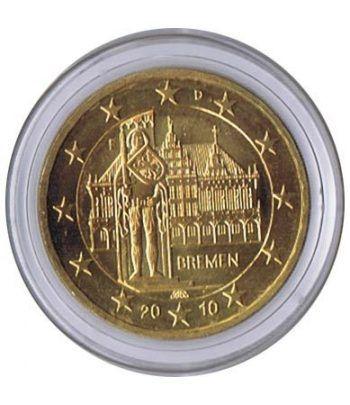 moneda conmemorativa 2 euros Alemania 2010. Chapada oro.  - 2
