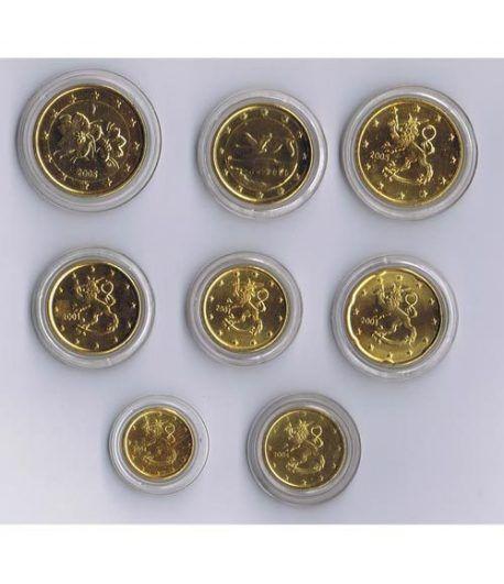 monedas euro serie Finlandia. Chapadas en oro.  - 2