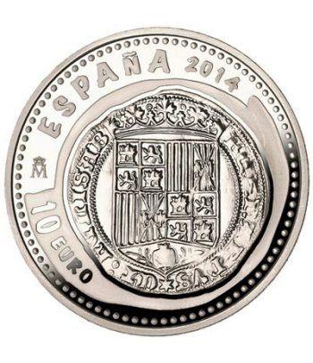 Moneda 2014 Joyas Numismaticas. Real. 10 euros. Plata  - 1