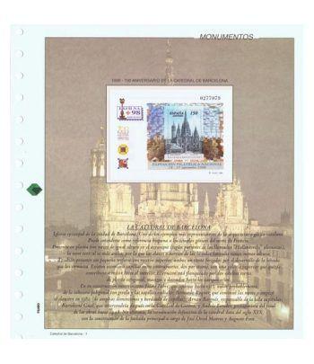 Colección Sellos 700 Aniversario Catedral Barcelona 1998.  - 1