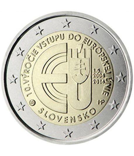 moneda conmemorativa 2 euros Eslovaquia 2014.  - 2