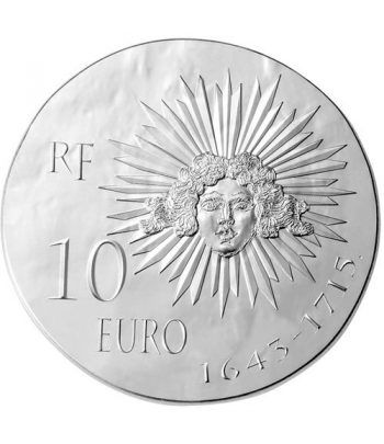 Francia 10 € 2014 Luis XIV. Plata.  - 1